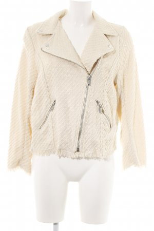H&M Tweedblazer creme Allover-Druck Casual-Look