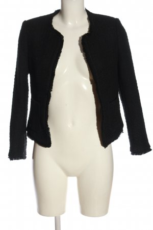 H&M Tweedblazer schwarz Webmuster Business-Look