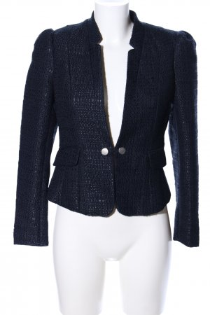 H&M Tweedblazer blau Allover-Druck Business-Look