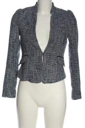 H&M Tweed blazer blauw gestippeld casual uitstraling