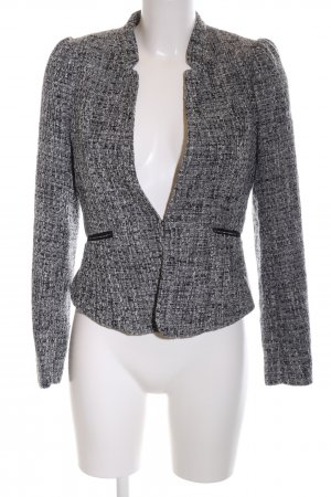 H&M Tweedblazer schwarz-weiß meliert Business-Look