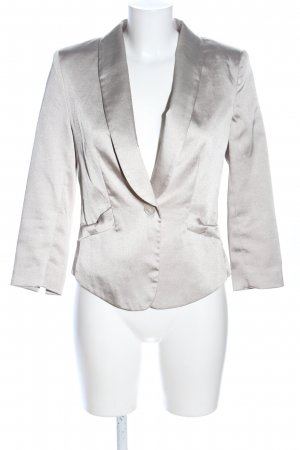 H&M Tweedblazer silberfarben Business-Look