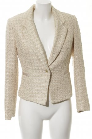 H&M Tweedblazer goldfarben-wollweiß Business-Look