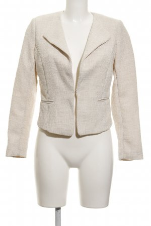H&M Tweedblazer hellbeige Business-Look