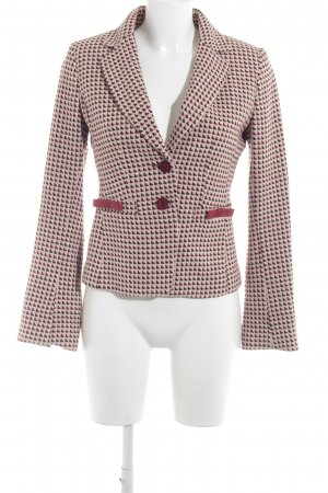 H&M Tweedblazer hellbeige-dunkelrot Webmuster Business-Look