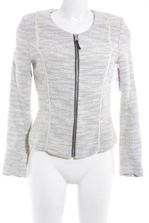 H&M Tweedblazer hellbeige-schwarz Streifenmuster Casual-Look