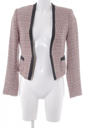 H&M Tweedblazer rosa-neonorange Karomuster Business-Look