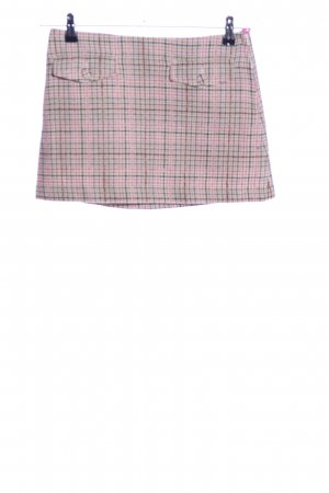 H&M Tweed Skirt pink-light grey allover print simple style