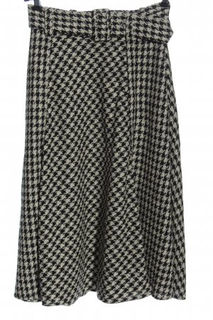 H&M Tweed Skirt black-natural white check pattern casual look