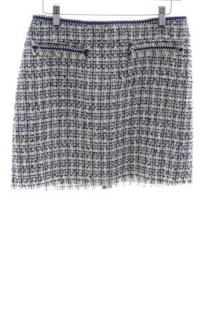 H&M Gonna tweed nero-bianco motivo a quadri stile classico