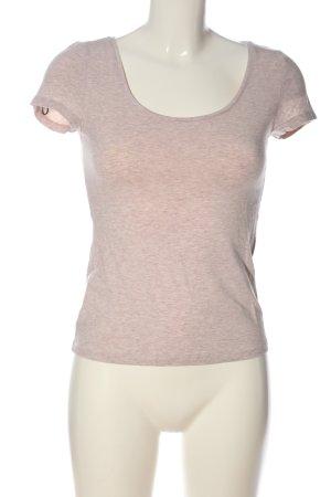 H&M U-Boot-Shirt wollweiß meliert Casual-Look