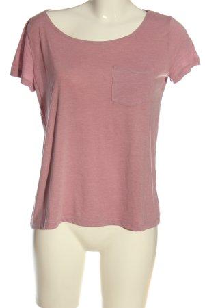 H&M U-Boot-Shirt pink meliert Casual-Look