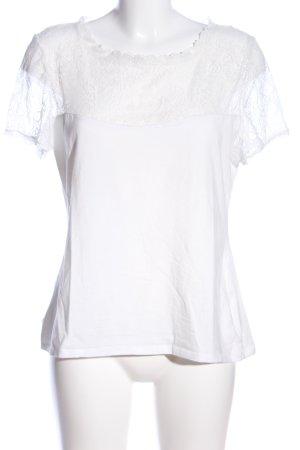 H&M U-Boot-Shirt weiß Casual-Look