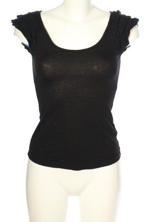 H&M U-Boot-Shirt schwarz Casual-Look