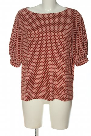 H&M U-Boot-Shirt rot-creme Allover-Druck Casual-Look