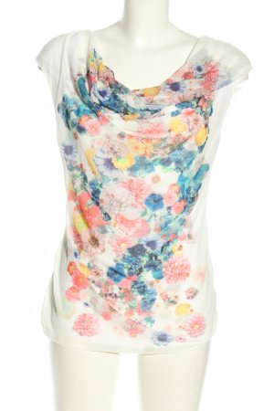 H&M Boatneck Shirt flower pattern casual look