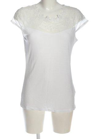 H&M Top à col bateau blanc style décontracté