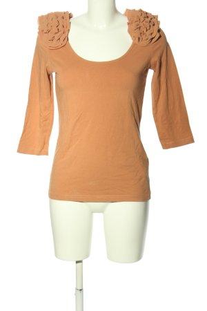 H&M Maglia scollo a barca arancione chiaro stile casual