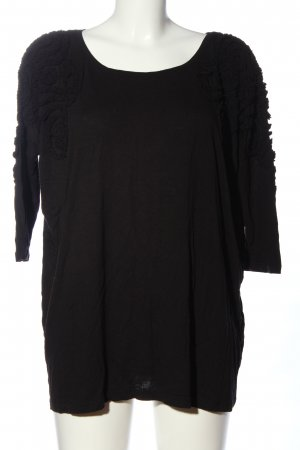 H&M Boatneck Shirt black casual look