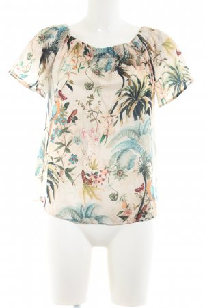 H&M U-Boot-Shirt creme Allover-Druck Casual-Look