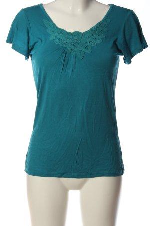 H&M U-Boot-Shirt blau Casual-Look
