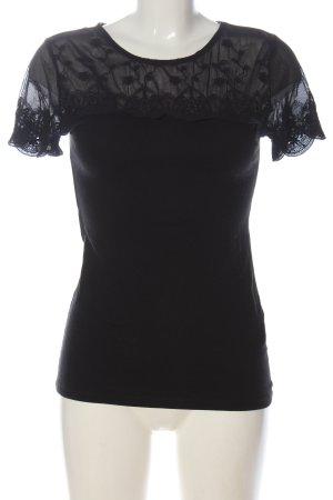 H&M Mesh Shirt black elegant