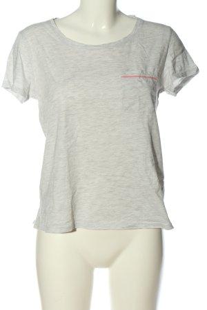 H&M U-Boot-Shirt hellgrau meliert Casual-Look