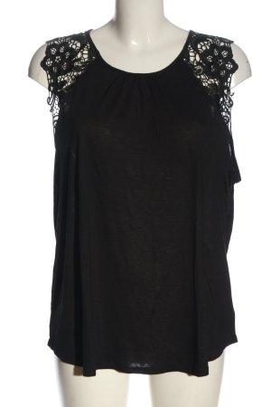 H&M Boothalsshirt zwart casual uitstraling