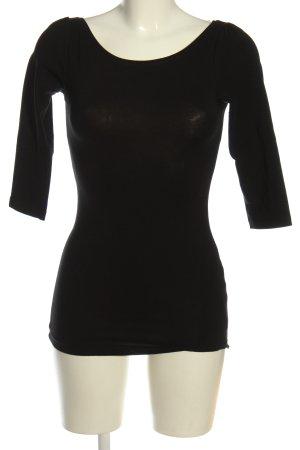 H&M Koszulka z dekoltem w łódkę czarny W stylu casual