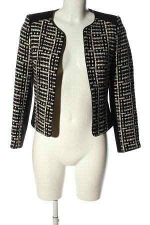 H&M Kurtka przejściowa czarny-w kolorze białej wełny Graficzny wzór