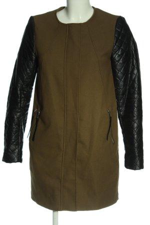 H&M Übergangsjacke khaki-schwarz Steppmuster extravaganter Stil