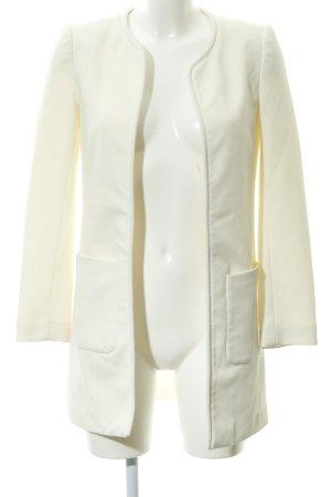 H&M Übergangsjacke creme Punktemuster Business-Look