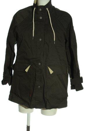 H&M Übergangsjacke schwarz-wollweiß Casual-Look