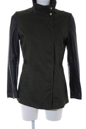 H&M Übergangsjacke khaki-schwarz Casual-Look