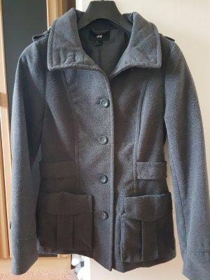 H&M Cappotto corto grigio scuro