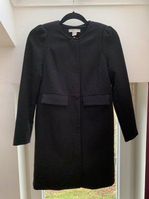 H&M Übergangsjacke Mantel Kurzmantel Longblazer schwarz