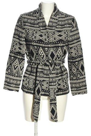 H&M Übergangsjacke schwarz-weiß Allover-Druck Casual-Look