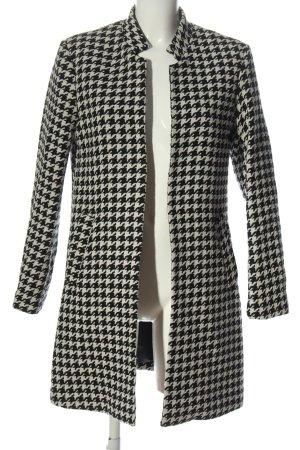 H&M Abrigo de entretiempo negro-blanco look casual