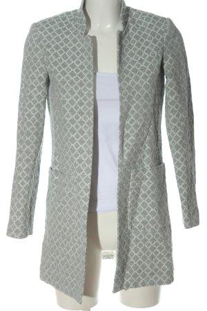 H&M Long-Blazer grün-weiß Casual-Look