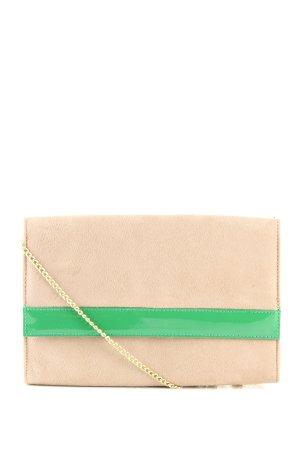 H&M Umhängetasche grün-creme Casual-Look