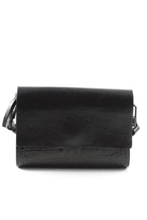 H&M Umhängetasche schwarz Animalmuster Elegant