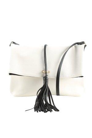H&M Umhängetasche weiß-schwarz Casual-Look