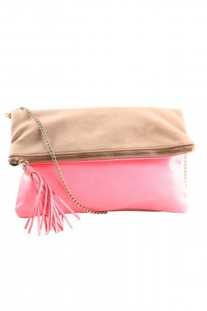 H&M Gekruiste tas roze-nude casual uitstraling