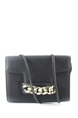 H&M Umhängetasche schwarz-goldfarben Casual-Look