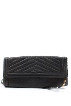 H&M Minitasche schwarz Steppmuster Elegant