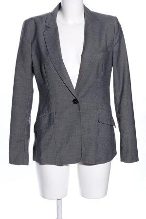 H&M Unisex blazer lichtgrijs gestippeld zakelijke stijl