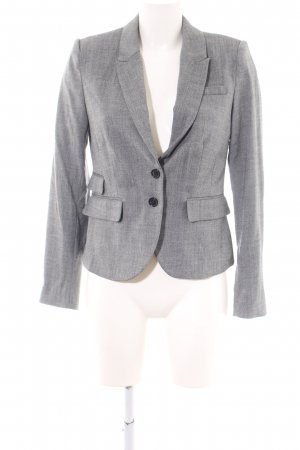 H&M Unisex-Blazer hellgrau meliert Business-Look