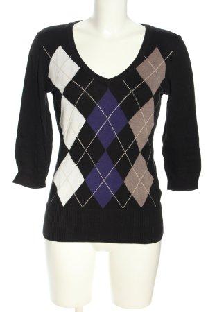H&M V-Ausschnitt-Pullover grafisches Muster Casual-Look