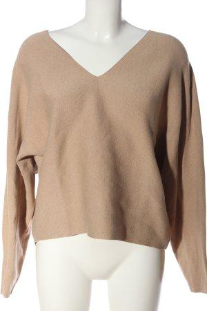 H&M V-Ausschnitt-Pullover nude Casual-Look