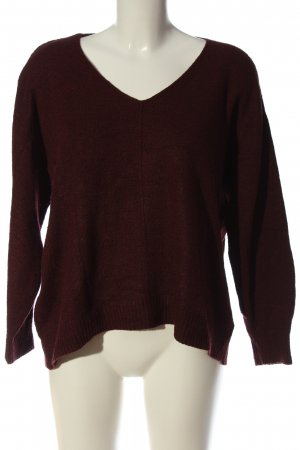 H&M V-Ausschnitt-Pullover rot Casual-Look